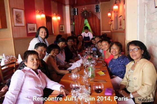 Déjeuner Julf 7 juin 2014, Paris