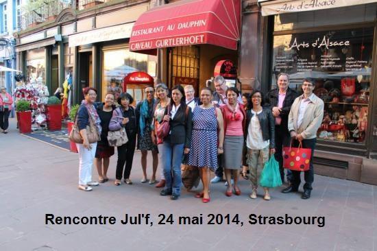 Déjeuner Julf  24 mai2014, Strasbourg